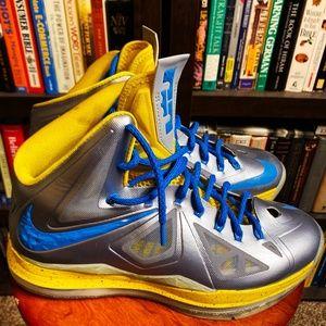Nike Lebron X - Silver/Electric Yellow Sz 8.5